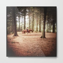 Forest Hacking Metal Print