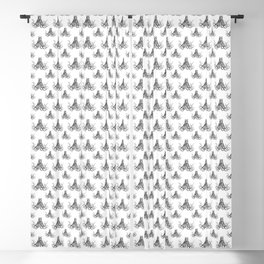 Octopussy | Hybrid Cat and Octopus | Vintage Animals | Black and White | Blackout Curtain