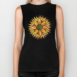 Sunflower Starburst Biker Tank