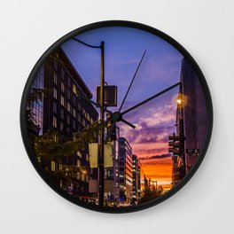 Farragut North Sunset Wall Clock
