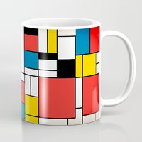 mondrian Mugs featuring Mondrian  by Studio 401