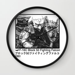 Falcon Flight W Wall Clock
