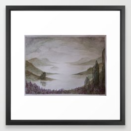 The Stones- a watercolor landscape Framed Art Print
