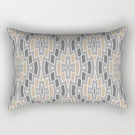 Tribal Diamond Pattern in Gray and Tan Rectangular Pillow