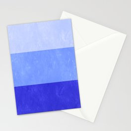 Blue Grunge Stripes Stationery Cards