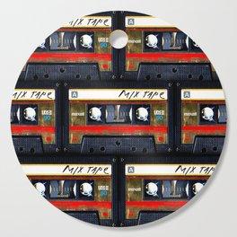 Retro classic vintage gold mix cassette tape Cutting Board