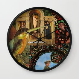 She walked with great dignity, collage.  Wall Clock