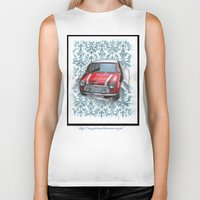 mini Biker Tanks featuring Mini by Magdalena Almero