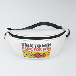 Pickleball Dink to Win Bang for Fun Padel Sport Fanny Pack