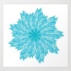 Blue flow er Art Print