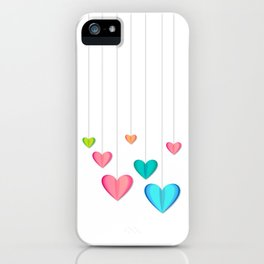 Hangin Hearts iPhone Case