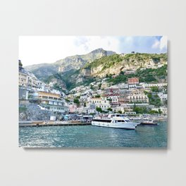 Amalfi Coast — Positano, Italy Metal Print