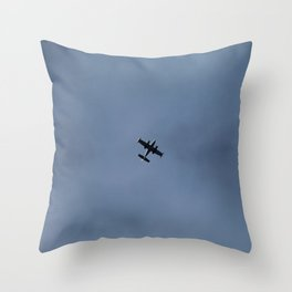 Little Airplane in a Blue Sky Throw Pillow
