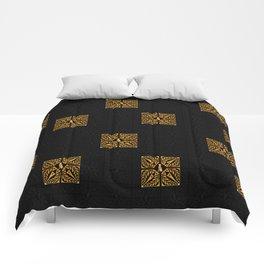 GOLD EIFFEL WEIMARANER 2 Comforters