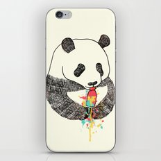 Panda Loves Ice Cream iPhone Skin