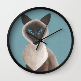 Cinnamon, Siamese Cat Wall Clock
