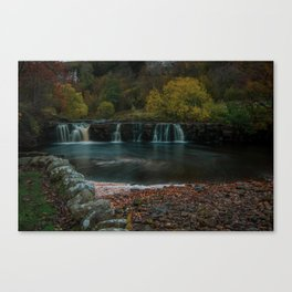 Yorkshire Dales Waterfall. Canvas Print