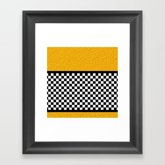 Checkered/Textured Gold Framed Art Print
