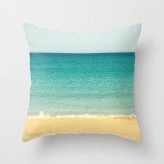 Beach,Sea & Sky - abstract Throw Pillow