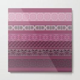 Pink raspberry patchwork 15 Metal Print