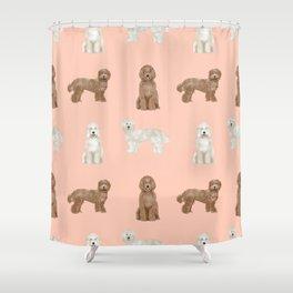 Labradoodle dog breed pet pattern labradoodles Shower Curtain