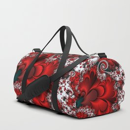 Red Sweetheart Fractal Duffle Bag