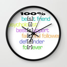 Sister qualities that make her the best print Wall Clock