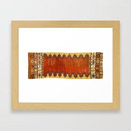 Karapinar Konya Central Anatolian Kilim Print Framed Art Print