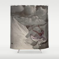 snowflake Shower Curtains featuring Snowflake by Müge Başak