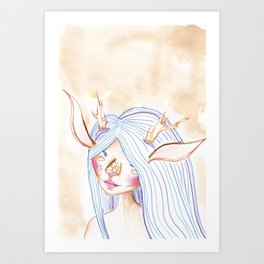 Faunish Art Print