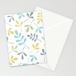 Assorted Leaf Silhouettes Color Mix Stationery Cards