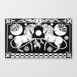 Celtic black unicron Canvas Print