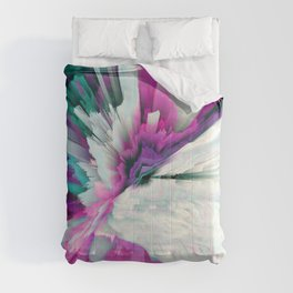 Obvious Subtlety Glitched Fluid Art Comforters
