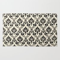 damask Area & Throw Rugs featuring Damask by MJ Lira Photography