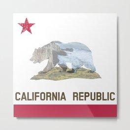 California Republic Landscape Flag Metal Print