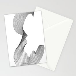 """Linear Collection"" - Minimal Letter E Print Stationery Cards"