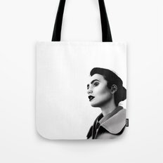 Lily Collins Tote Bag