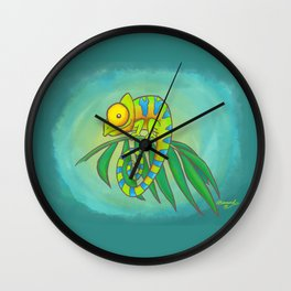 Colorful Chameleon! Wall Clock