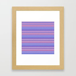 Stripes pink and purple Framed Art Print