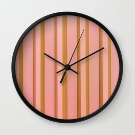 Stripes - Peach Wall Clock