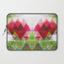 Red Rose with Light 1 Art Triangles 1 Laptop Sleeve