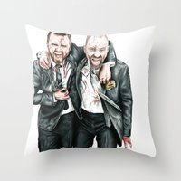 breaking bad Throw Pillows featuring Breaking Bad by 13 Styx