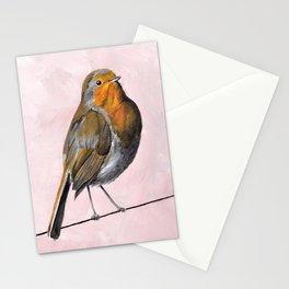 Robin Redbreast, Orange Bird Art Stationery Cards