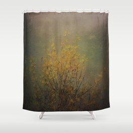 Vintage flowering bloom Shower Curtain