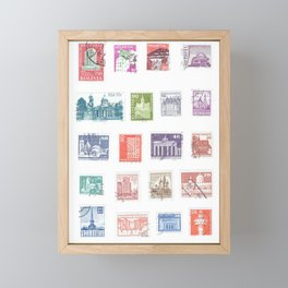 Architecture Postage Framed Mini Art Print