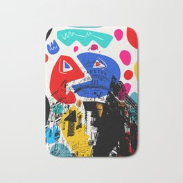 Cannes French Riviera Croisette Carlton Art Bath Mat