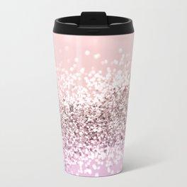 Sparkling BLUSH Glitter #1 #shiny #decor #art #society6 Travel Mug