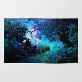 Fantasy Garden Path Midnight Rug