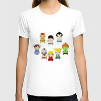 street fighter T-shirts featuring A Boy - Street fighter by Christophe Chiozzi