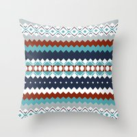 navajo Throw Pillows featuring Navajo Pattern by Sean O'Connor